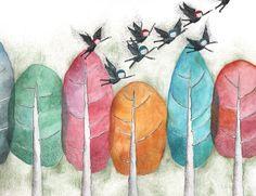 Birds, drawings from Miriam Bouwens www.miriambouwens.blogspot.com