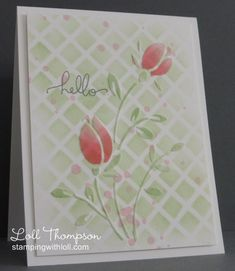Spring Tulips by Loll Thompson - Cards and Paper Crafts at Splitcoaststampers