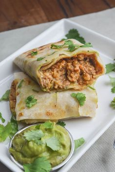 Roasted Butternut Squash, Millet, and Lentil Burritos (Vegan) [recipe uses store bought flour tortillas]