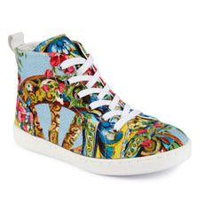Dolce   Gabbana - Flower-printed canvas trainers - 71209 Dolce Gabbana 4a8dcce420e