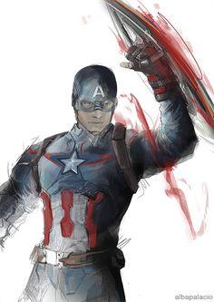 "albapalacio:  I was in a mood for a ""fast colored Captain America, aka I´m not a…"