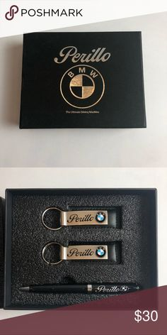 BMW keychains and a pen set Perillo BMW. New in box. 2 keychains and a pen BMW Accessories Key & Card Holders Bmw Keychain, Bmw Black, Bmw Accessories, Pen Sets, Key Card Holder, Keychains, Man Shop, Box, Closet