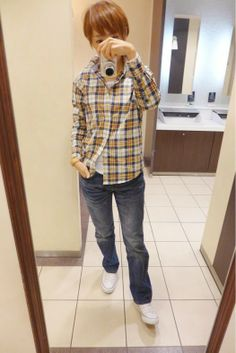 今日はシャツにデニムでカジュアルスタイル  Outer/FilippaK Shirt/GAPkids Bottom/Levis Bag/L.L.Bean Shose/ALL STAR