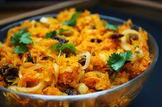 Mediterraner Karotten-Kürbissalat
