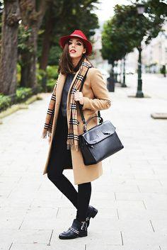 H&M pants, Zara sweater, coat, boots & bag.