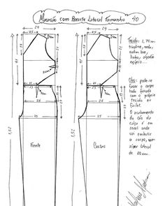 Dress Sewing Patterns, Sewing Patterns Free, Clothing Patterns, Sewing Tutorials, Sewing Pants, Sewing Clothes, Diy Clothes, Clothes For Women, Jumpsuit Pattern