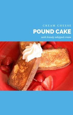 Alisa Reynolds got the whipped cream drunk for this dessert. She shared her Cream Cheese Pound Cake Recipe with Brandy Whipped Cream on The Talk. http://www.foodus.com/the-talk-cream-cheese-pound-cake-recipe-with-brandy-whipped-cream/