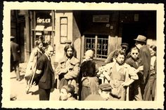 Kielce, Poland, Jews in a ghetto street.