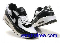 new arrivals b83b3 7a6ba Vendre Pas Cher Homme Chaussures Nike Air Max 90 (couleur blanc,noir) en  ligne en France.