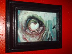 "Jeremy Cross """"Sacred Eye 8"" 5""x7"" oil on canvas  2010"