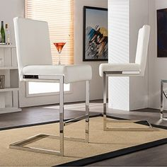 Vasilus Bonded Leather Barstool (Set of 2) by Christopher Knight Home | Overstock.com Shopping - The Best Deals on Bar Stools