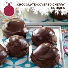 Taste of Home's Cookie Countdown: Chocolate-Covered Cherry Cookies! Marie Kinyon of Mason, Michigan assures us that though these cookies require a little extra effort, they're worth it!