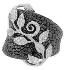 Black and white diamond ring by Rhonda Faber Green