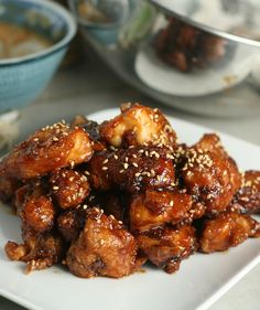 Chinese Sesame Chicken...time consuming, but the kids loved it so it was all worth while! .....double the sauce