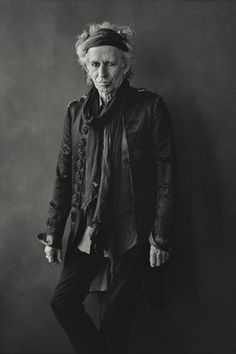 Keith Richards| fashion icon; godfather of rock and roll