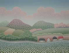 Spring Ivan Rabuzin, Naive Art, Landscape Art, Folk Art, Artists, Spring, Painting, Learn To Draw, Thoughts