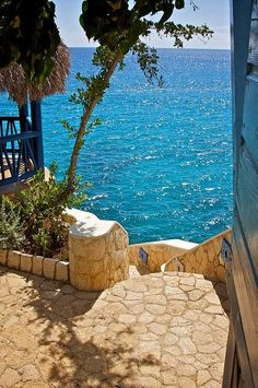 Stairs to The Sea ~ Negril, Jamaica