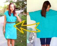 Make a DRESS from a BIG TEE! (with this tutorial)