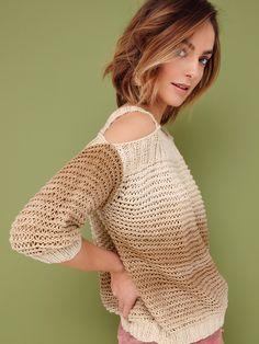 Se opp for HYLDA: Alle tiders genser med bare skuldre og stropper.   Garnpakke i Phil Degrade fra Phildar.