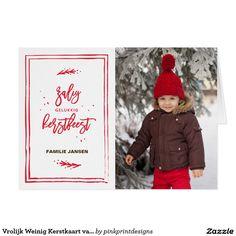 Vrolijk Weinig Kerstkaart van de Foto van de Vakan Card
