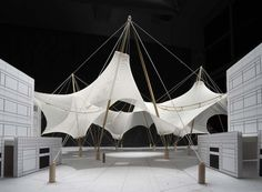 Gallery of Skysong at ASU Campus / FTL Design Engineering Studio - 18 Shell Structure, Membrane Structure, Fabric Structure, Structural Model, Urban Ideas, Tensile Structures, Temporary Structures, Roof Design, Popup