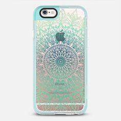 TEAL BOHO MANDALA - New Standard iPhone 6 Case in Pearl Teal by Nika Martinez #phonecase | @casetify