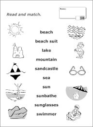 Summer words crossword school pinterest summer worksheets printable read and match picture tests for kids to learn practise and revise english vocabulary resources for esl teachers fandeluxe Images