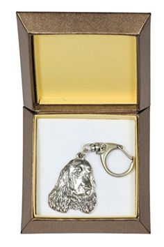 NEW, English Cocker Spaniel, dog keyring, key holder, in casket, limited edition, ArtDog *** Continue to the product at the image link. (This is an affiliate link) #JewelrySets