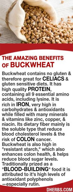 Buckwheat is great for celiacs gluten sensitive diets. It has high quality protein, containing all 9 essential amino acids. It is rich in iron, high in carbs antioxidants with many minerals vitamins like zinc copper. Its soluble fiber reduces blood choles Healthy Life, Healthy Living, Colon Health, Hypothyroidism Diet, Salud Natural, Food Facts, Meals For One, Health And Nutrition, Health Remedies