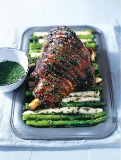 Lamb served with Minst Sauce by Donna Hay ~ 14 Elegant Recipes to Make for Easter Brunch via /domainehome/
