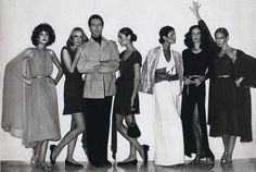 Get inspired by Halston and friends and make chic dresses work for the office with elegant flats and a sleek up-do #Work