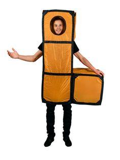 Tetris Lizenzkostüm Buchstabe L orange, aus unserer Kategorie ausgefallene Kostüme. Tetris ist einfach ein absolutes Kult-Videospiel. Einmal als L-Block um die Häuser zu ziehen hat sich wohl jeder Tetris-Fan schon einmal gewünscht. Ein lustiges Kostüm für Karneval und Mottopartys.