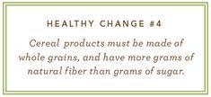 good food rule:  must have more fiber than sugar