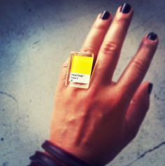 Now THIS is cool! | Pantone ring | yellow |