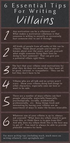 6 Essential Tips For Writing Villains