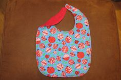 Valentines Day Toddler Bib Preschool Bib Ladybugs Flannel Terry Cloth  Lined with batting Snaps Preschool Drooler Bib Child Drooling Bib by NammersCrafts on Etsy