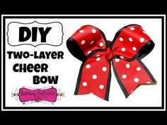 How to Make a Two Layer Cheer Bow - Hairbow Supplies, Etc. - YouTube