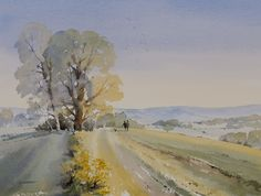 ''Its been a glorious evening' by Oliver Pyle. Watercolour on Saunders Waterford Rough paper. http://www.oliverpyle.com/