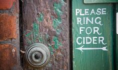 Please ring for cider     http://www.ukcider.co.uk