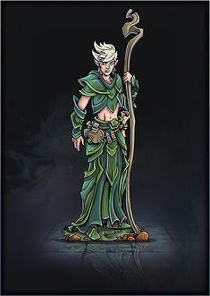 Printable Heroes, Printable Paper, Elf Druid, Player's Handbook, Tabletop Games, Alchemist, Card Templates, Minis, Fantasy Art