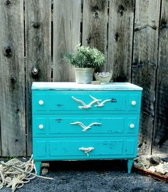 Coastal Dresser: A Redo Coastal Dresser, Coastal Furniture, Upcycled Furniture, Painted Furniture, Rustoleum Paint, Broyhill Furniture, White Wash Brick, Textured Wallpaper, Pet Beds