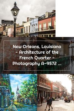 New Orleans, Louisiana - Architecture of the French Quarter - Photography A-95729 95729 (Art Prints, French Quarter, Louisiana, New Orleans, Art Prints, Mansions, Architecture, House Styles, Photography, Art Impressions