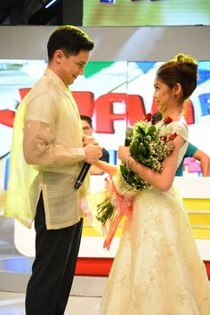 Divina's project in school: wedding collection Maine Mendoza, Alden Richards, Now And Forever, Hashtags, Flower Girl Dresses, Twitter, Wedding Dresses, People, Collection