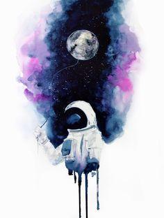 My moon Art Print