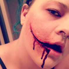 Special effects makeup! By Hilary Whitworth, Instagram @batcityhilary #blood #gore #halloween #scary
