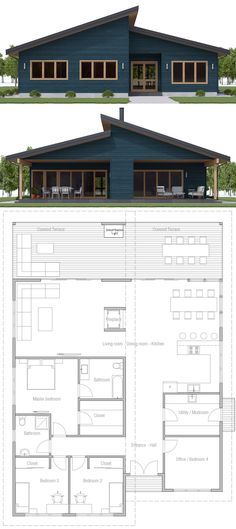 House Plan, Home Planm House Layout Plans, Dream House Plans, House Layouts, House Floor Plans, The Plan, How To Plan, Sims 4 House Building, Building Plans, Contemporary House Plans