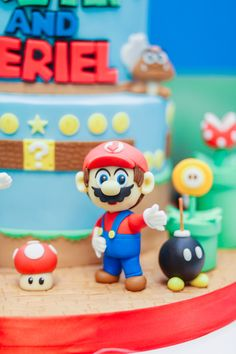 Dessert Tables, Mario Kart, Birthday Party Themes, Luigi, Smurfs, Twins, Fun, Gemini, Fin Fun