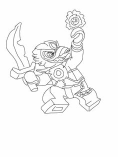chima coloring pages bear Coloring4free - Coloring4Free.com | 314x236