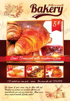 Boost your bakery shop with our free bakery psd flyer template! Get great quality and bright design, all in one! #baKERY #food #event