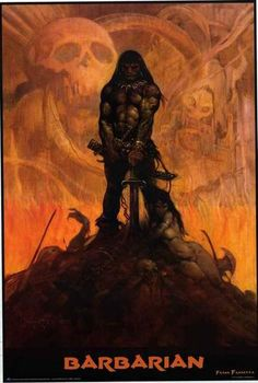 An amazing poster of Conan the Barbarian by legendary fantasy artist Frank Frazetta! Fully licensed - 2015. Ships fast. 24x36 inches. Check out the rest of our excellent selection of Frank Frazetta po